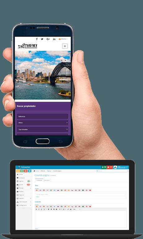 Web inmobiliaria integrada en software inmobiliario