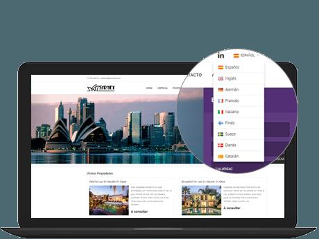web inmobiliaria multi idioma