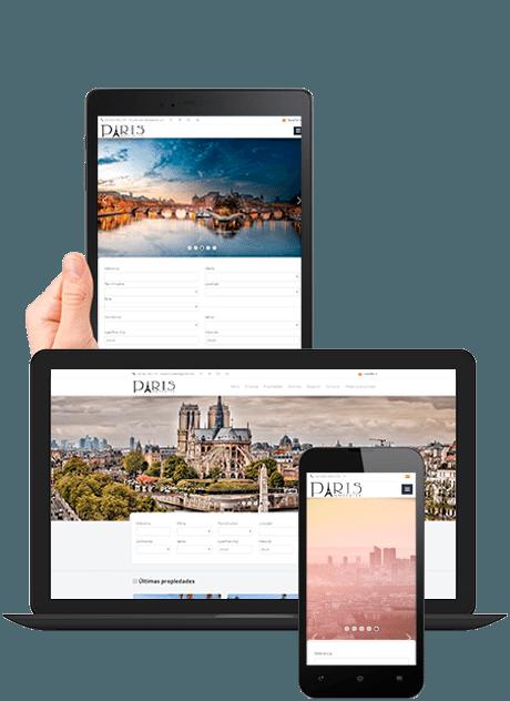 web inmobiliaria multidispositivo responsive design integrada en ERP